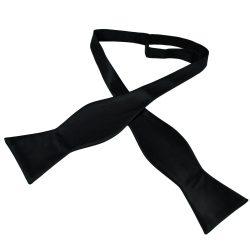 Plain Black Self Tie Bow Tie