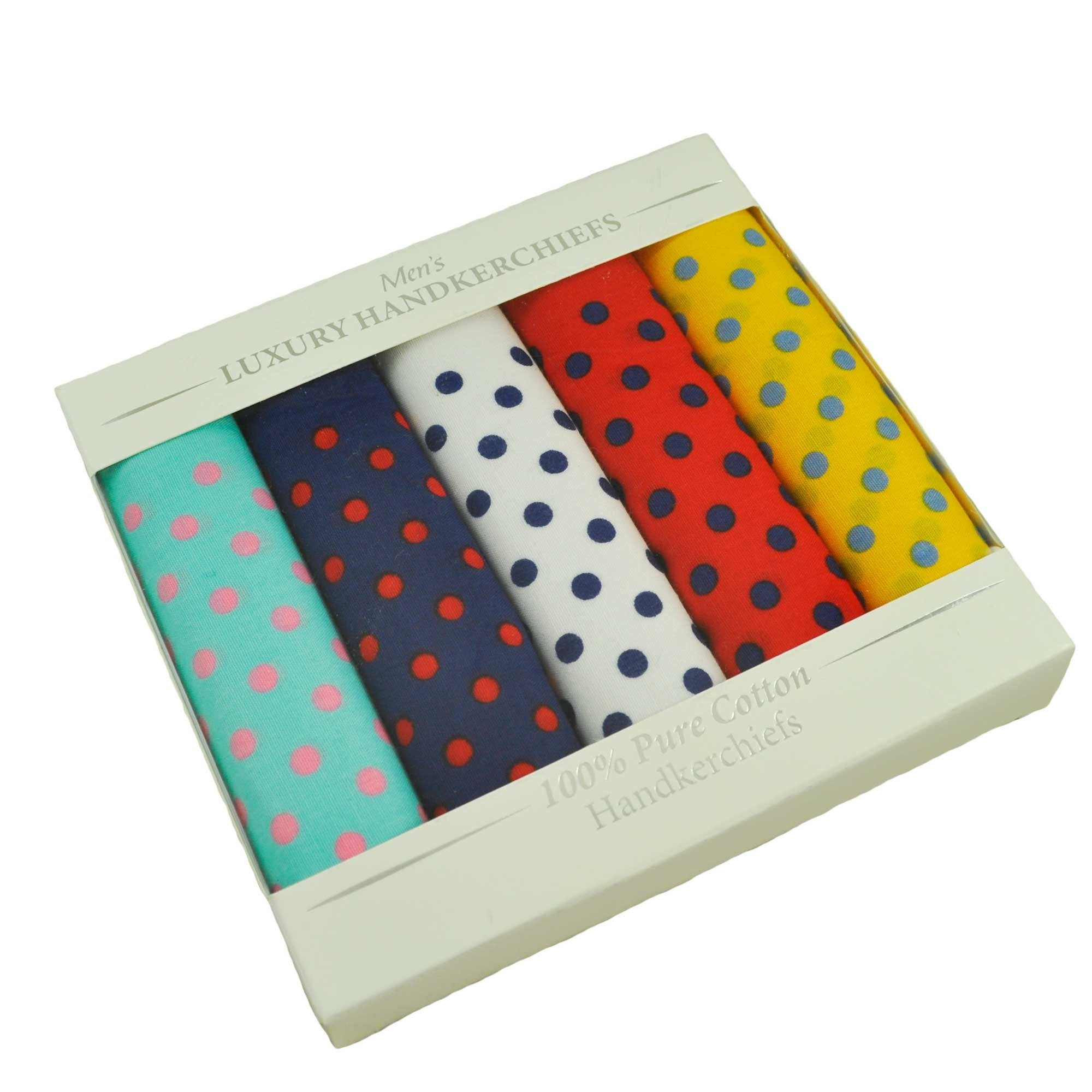 Mens Handkerchiefs Hankies 100/% Cotton 3 Multi Pack Large White Hanky Gift Box