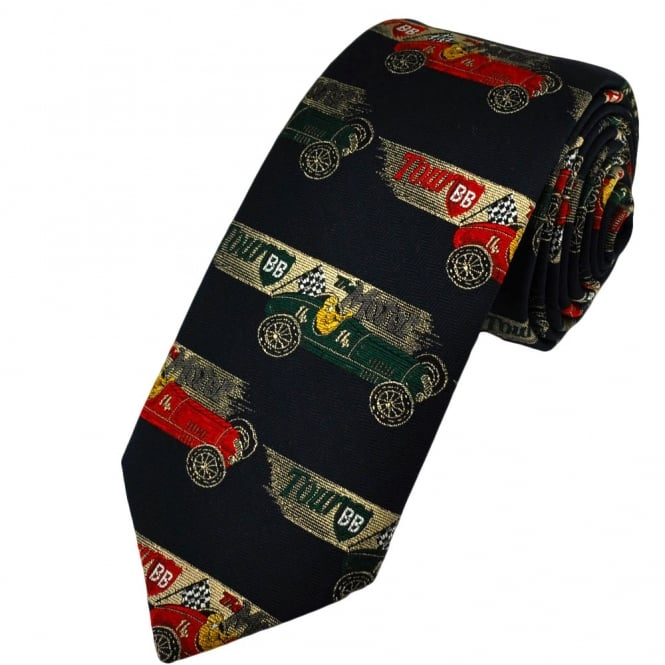 1920's Racing Cars Novelty Tie by Van Buck