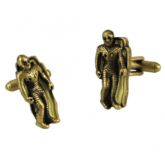 3D Mummy in Coffin Cufflinks