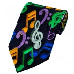 3D Music Notes Novelty Tie
