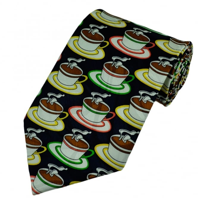 A Hot Cup of Coffee Novelty Tie