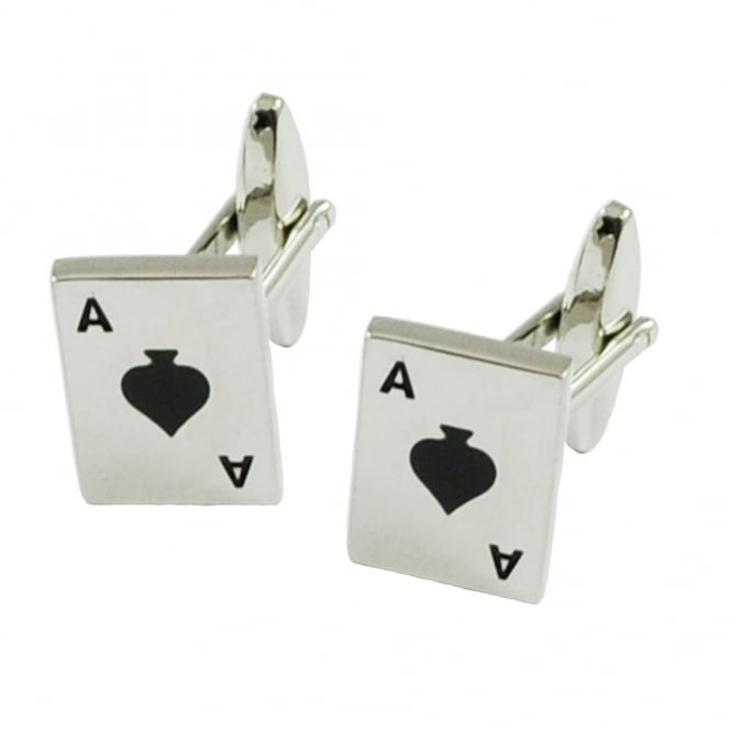 Ace of Spades Novelty Cufflinks