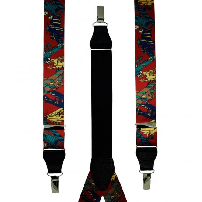 Aeroplanes Red Men's Trouser Braces