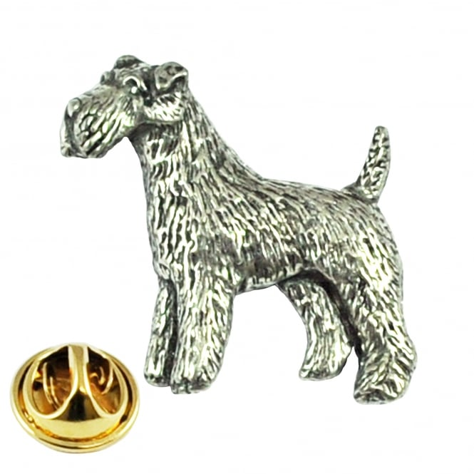 Airedale Terrier Dog Lapel Pin Badge
