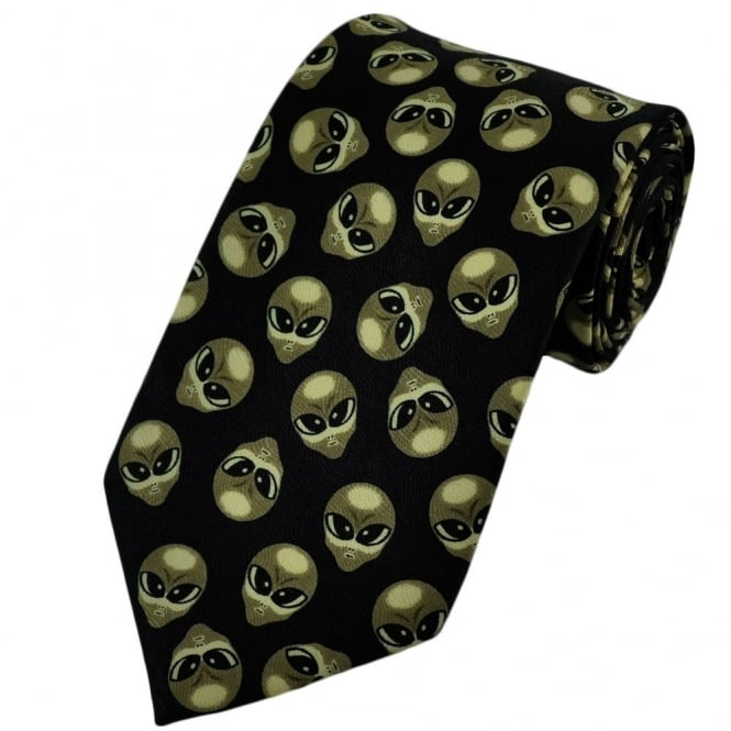 Alien Heads Novelty Tie