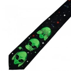 Aliens - See No Evil, Hear No Evil, Speak No Evil Novelty Tie
