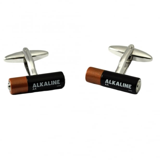 Alkaline AA Battery Novelty Cufflinks