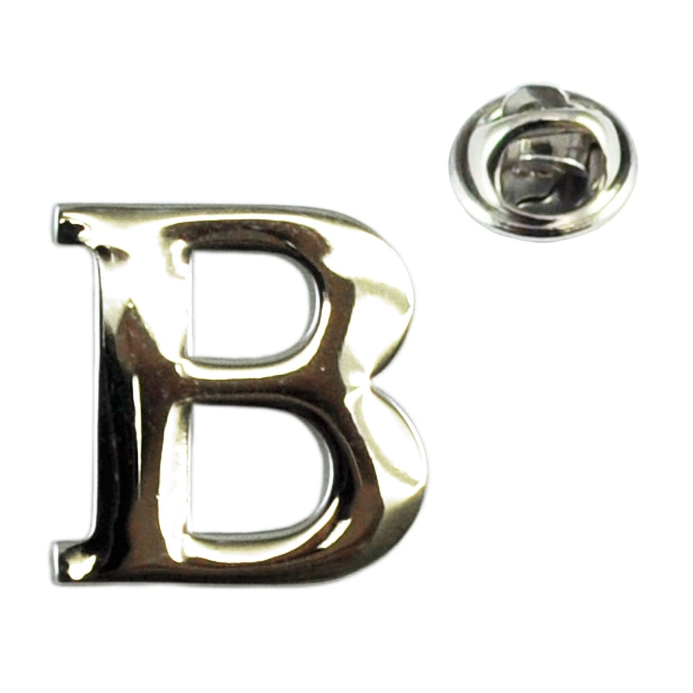 alphabet letter b lapel pin badge from ties planet uk
