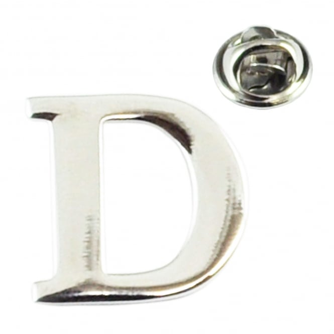 Alphabet Letter D Lapel Pin Badge