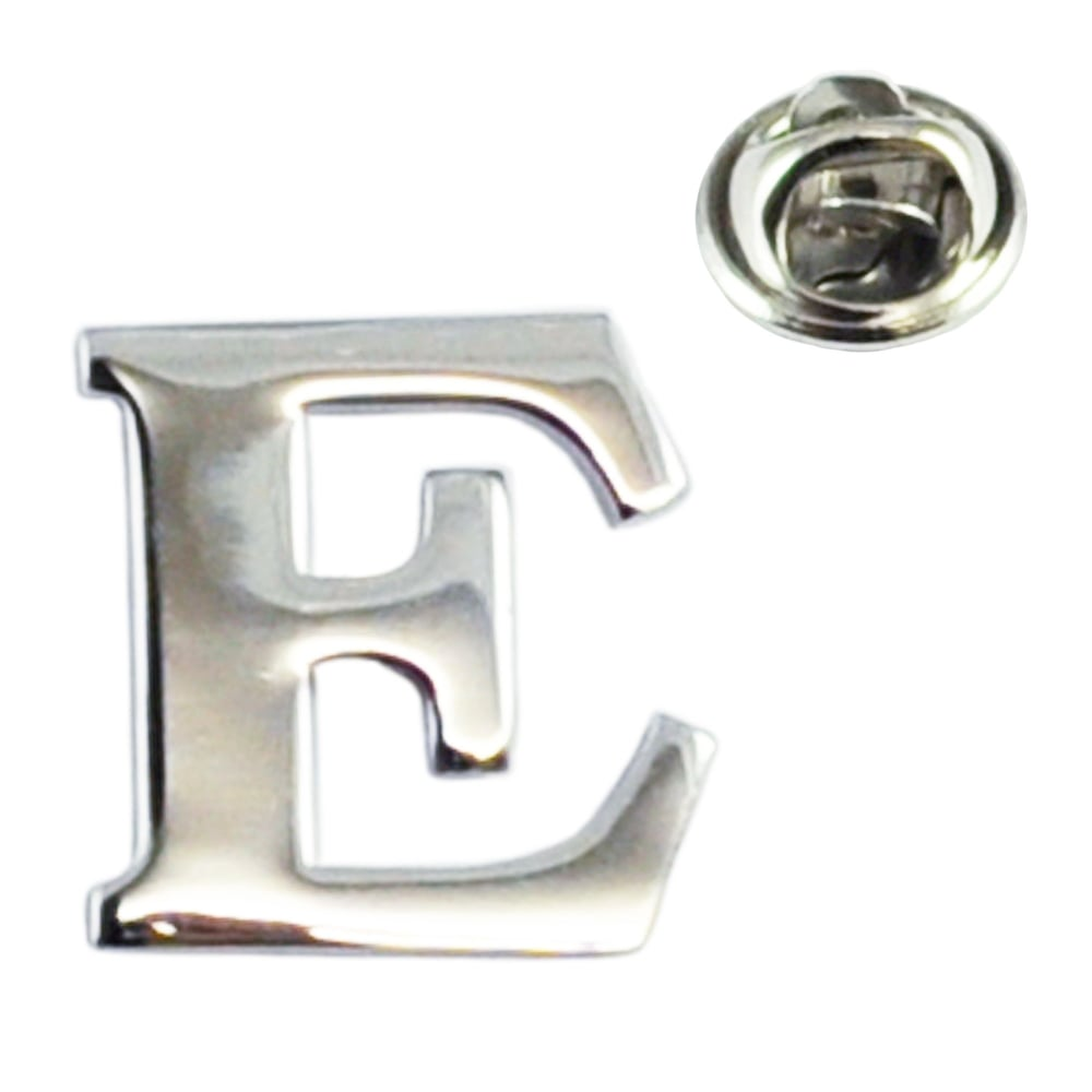 Alphabet letter e lapel pin badge from ties planet uk alphabet letter e lapel pin badge thecheapjerseys Choice Image