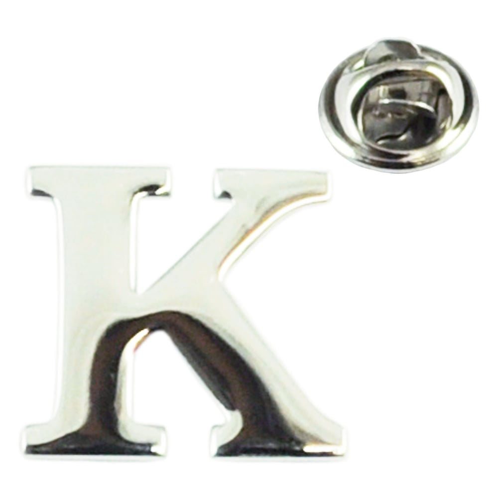 Pin By On C A R S: Alphabet Letter K Lapel Pin Badge From Ties Planet UK