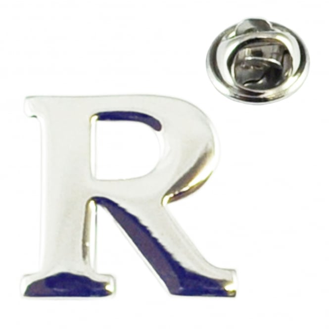 Alphabet Letter R Lapel Pin Badge