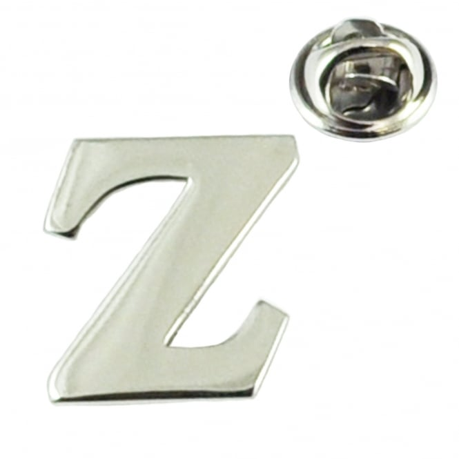 Alphabet Letter Z Lapel Pin Badge