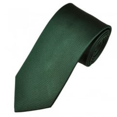 Amanda Christensen Plain Bottle Green Silk Designer Tie