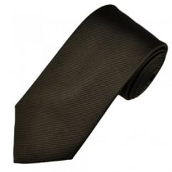 Amanda Christensen Plain Brown Silk Designer Tie