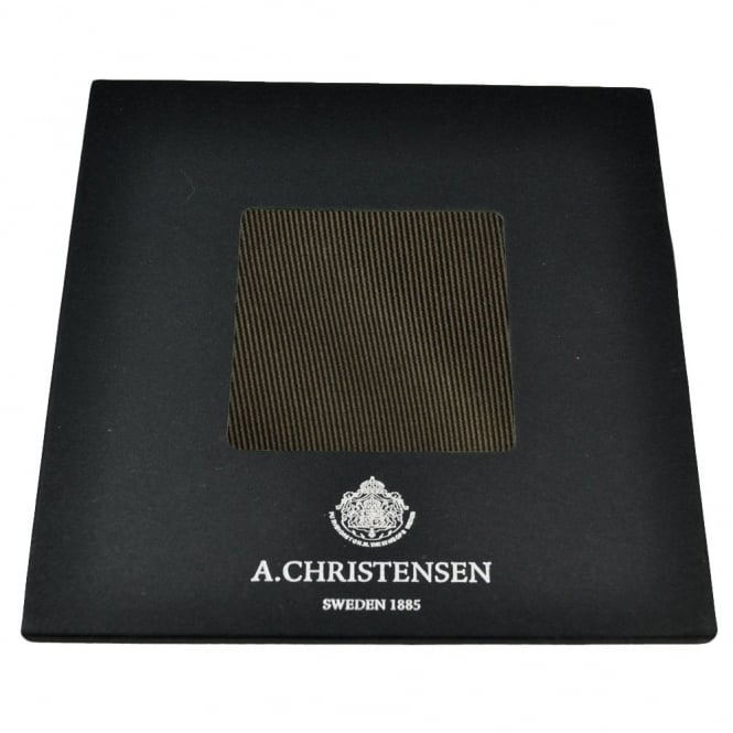 Amanda Christensen Plain Brown Silk Pocket Square Handkerchief