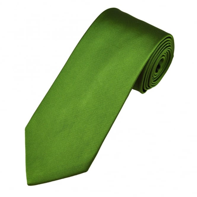 367af2c979f4 amanda christensen plain green silk designer skinny tie from uk. TIESPLANET