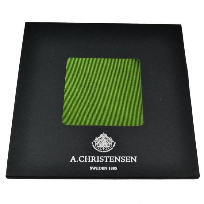 Amanda Christensen Plain Green Silk Pocket Square Handkerchief