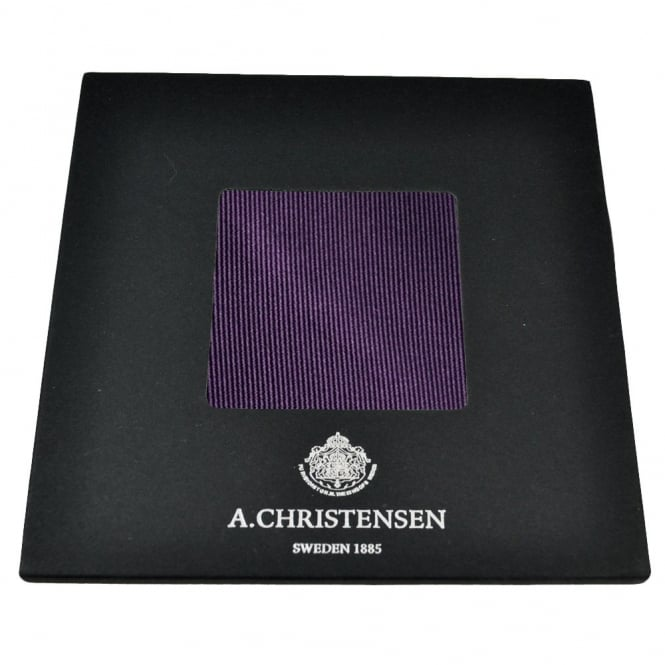 Amanda Christensen Plain Plum Silk Pocket Square Handkerchief
