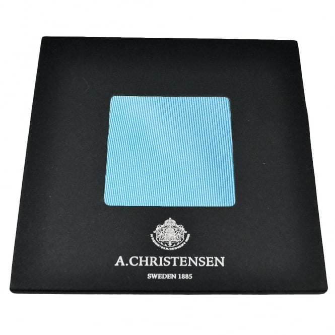 Amanda Christensen Plain Sky Blue Silk Pocket Square Handkerchief