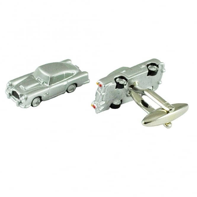 American Classic Style Silver Car Novelty Cufflinks