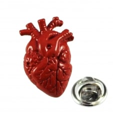 Anatomic Red Heart Surgeons Lapel Pin Badge