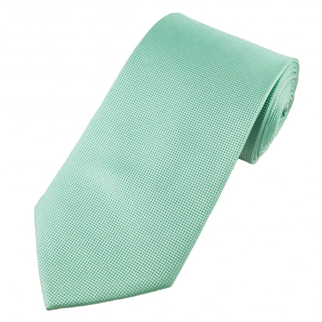 Aqua & Silver White Micro Woven Checked Men's Silk Tie