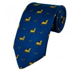 Aries Horoscope Star Sign Blue Silk Novelty Tie