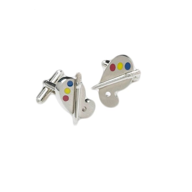 Artist Palette Novelty Cufflinks