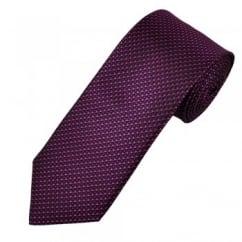 Ascot Black, Fuchsia Pink & Purple Patterned Silk Men's Designer Tie