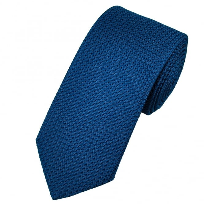 Atelier F&B Dark Blue Grenadine Silk Designer Tie