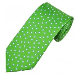 Atelier F&B Green, Pink & Blue Circle Patterned Men's Silk Designer Tie