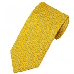 Atelier F&B Palm Trees Yellow Men's Silk Designer Tie