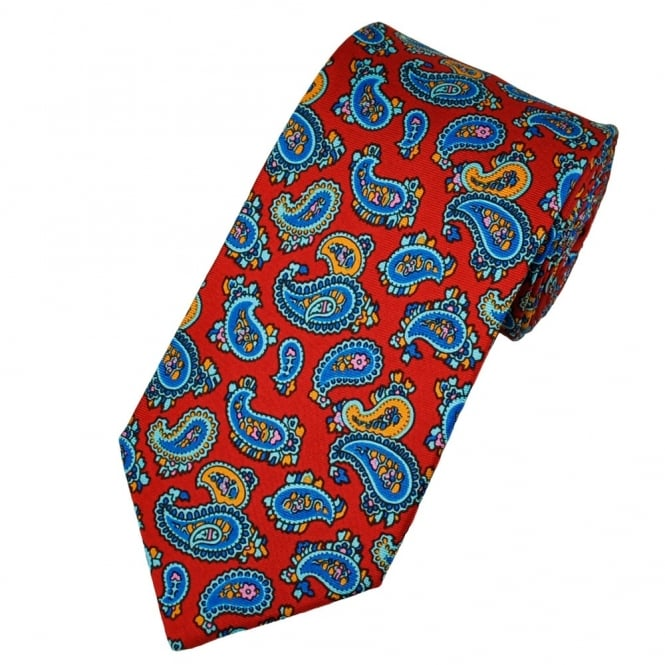 Atelier F&B Red Paisley Silk Tie