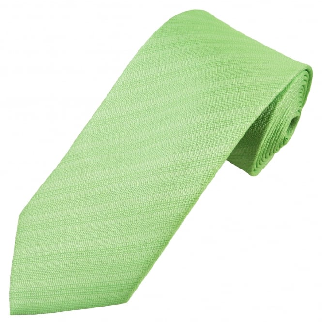 Avocado Green Textured Patterned Men's Tie