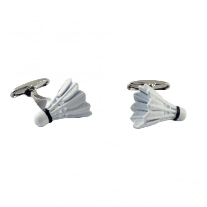 Badminton Shuttlecock Novelty Cufflinks
