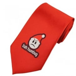 Bah Humbug Red Novelty Christmas Tie