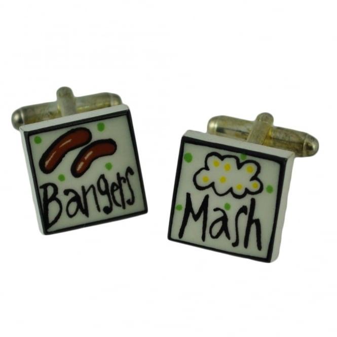 bangers and mash cufflinks