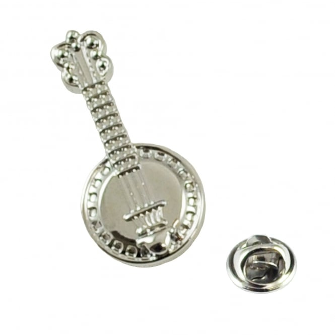 Banjo Musical Instrument Lapel Pin Badge