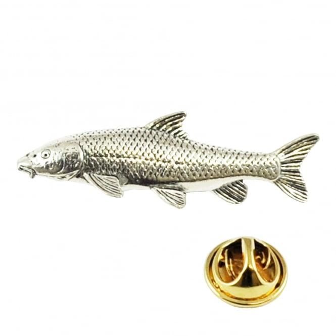Barbel Fish Pewter Lapel Pin Badge