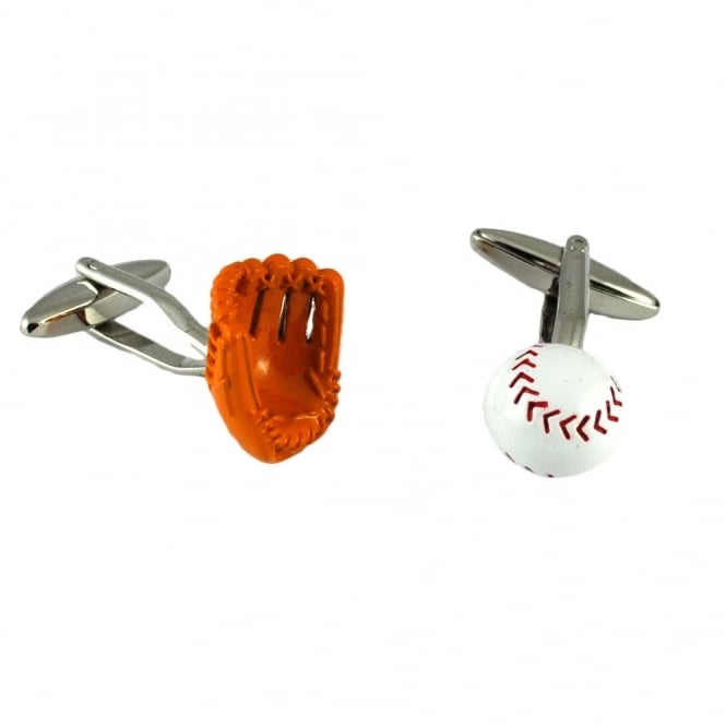 Baseball Glove & Ball Novelty Cufflinks