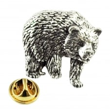 Bear English Pewter Lapel Pin Badge