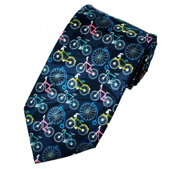 Bicycles & Penny Farthing Cycling History Novelty Tie