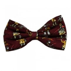 Bird Hunting Shooting Red Silk Bow Tie