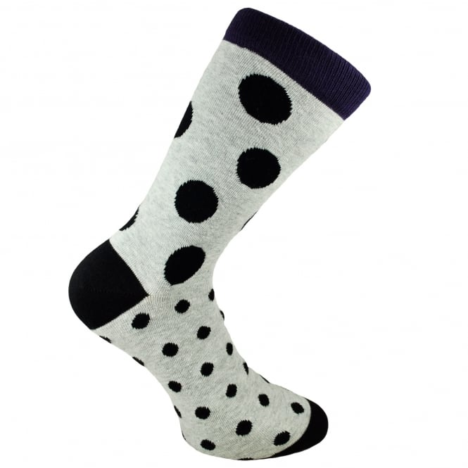 Bjorn Borg Grey & Black Polka Dot Men's Socks 7-11