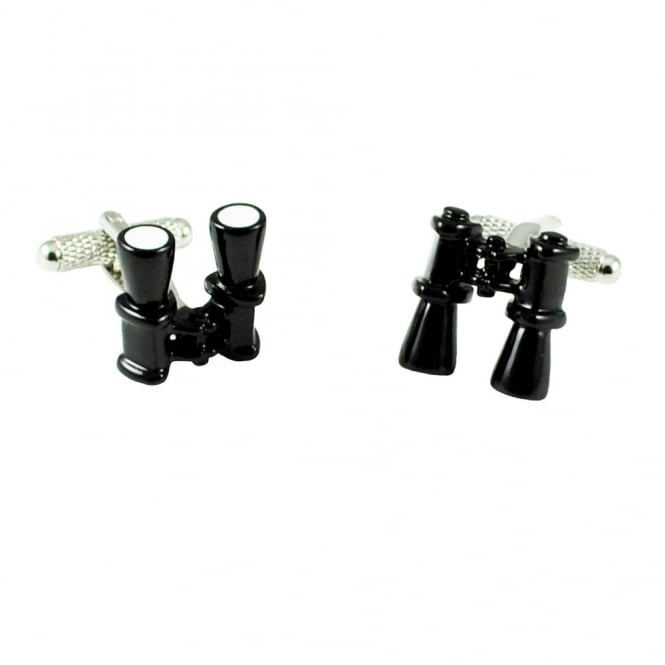 Black Binoculars Novelty Cufflinks