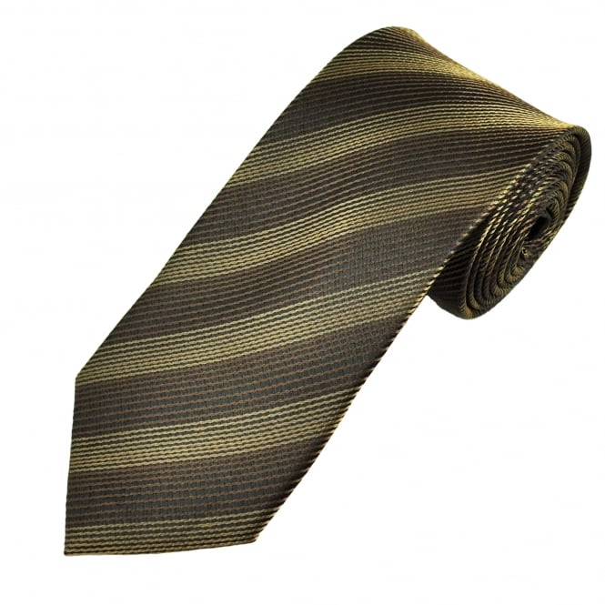 Black, Brown & Beige Striped Men's Tie