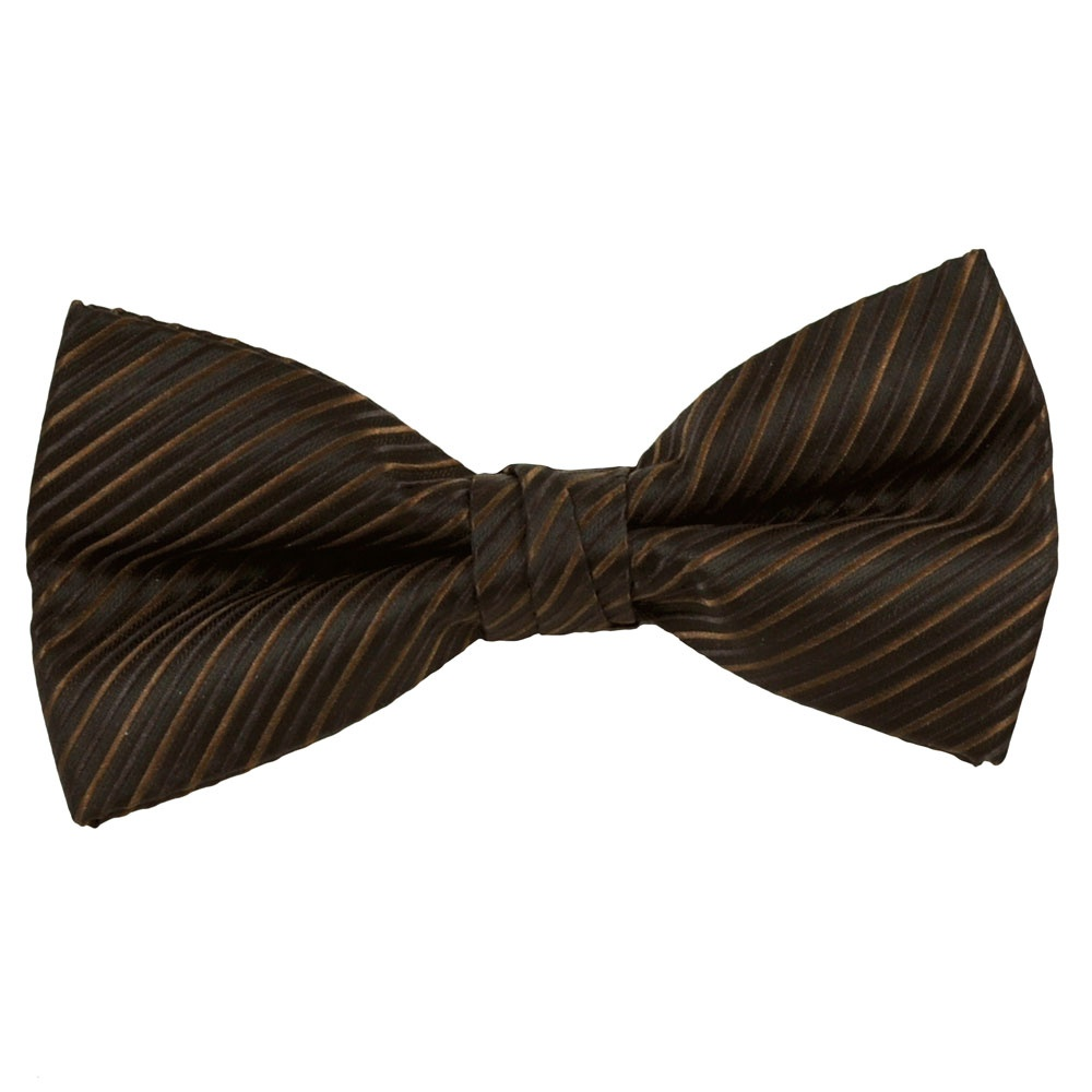 Black chocolate brown amp rusty brown striped bow tie from ties planet