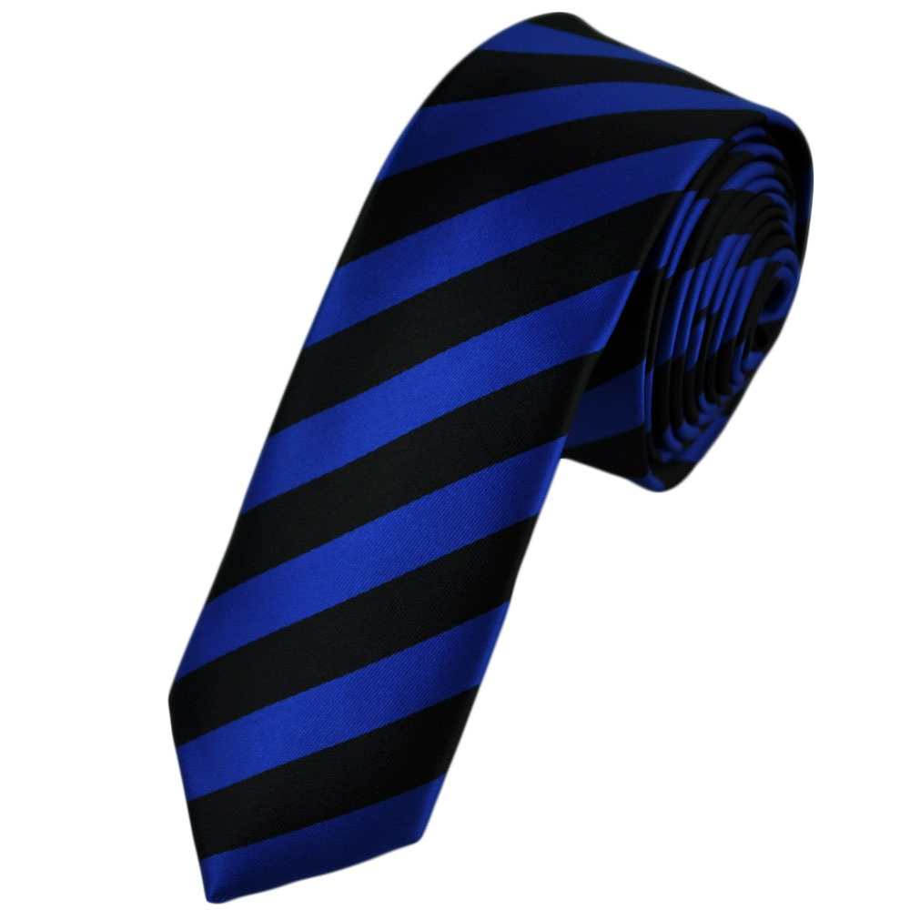 black electric blue striped tie from ties planet uk